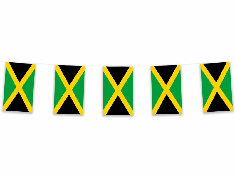 5m Polyester Jamaica Bunting Pennant Banner Caribbean Island Carnival Reggae