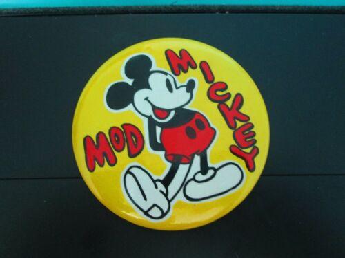 MICKEY MOD METAL PINBACK BUTTON - Walt Disney Productions -A Benay-Albee Product