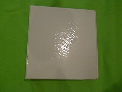 White Three Ring View Binder 1.5 Inch With 2 Pockets By Performe