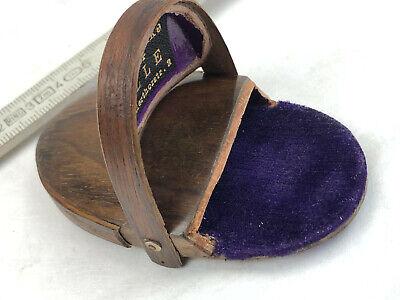 Antikes Brillenetui Holz für Zwicker Kneifer Nickelbrille Optiker um 1920 467