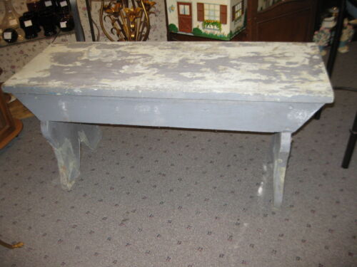 "Antique Vintage Primitive Wooden Farmhouse Bucket Garden Bench 42x15.5x 19"" H"