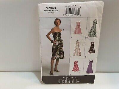 Vogue Easy Options Sew Pattern V7848 Petite Dress 6 Styles Size 12 -16 Uncut
