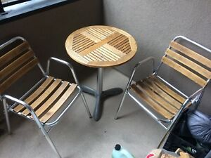 Bamboo patio bistro set