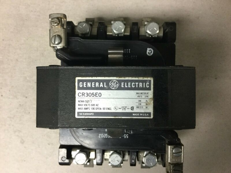 General Electric GE CR305E0 Size 3 Motor Starter With 120 Volt Coil