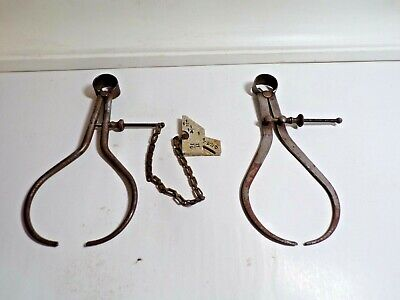 Lot Of 2 L.s. Starrett Consolidated Tool Works 7 Machinist Outside Calipers