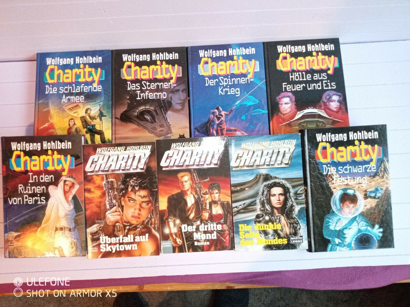 9 Utopische Romane Science Fiction  Von Hohlbein aus der Charity Reihe