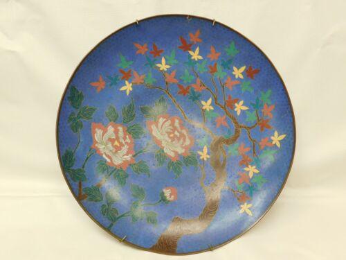Japanese Cloisonne Decorative Floral Charger circa 1880