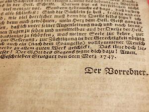 Dickes Buch mit einigen Stichen - 1747 - über 1700 Seiten