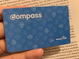 Compass Pass 2-Zone With January Monthly Pass for sale