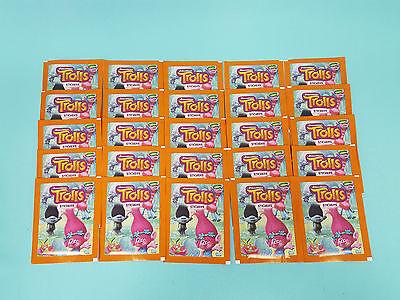 Topps DreamWorks Trolls Sticker Serie  25 Tüten / 125 Sticker Neu