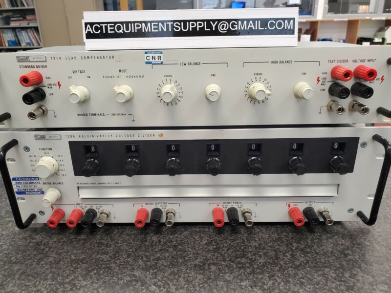 Fluke 720A Kelvin-Varley Precision Voltage Divider with 721A Lead Compensator