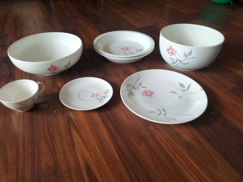 Vintage Ballerina in Rosette by Universal Pottery 7 PC set