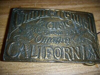 Vintage Union & Central Pacific Omaha to California Railroad Line Belt (Omaha California)