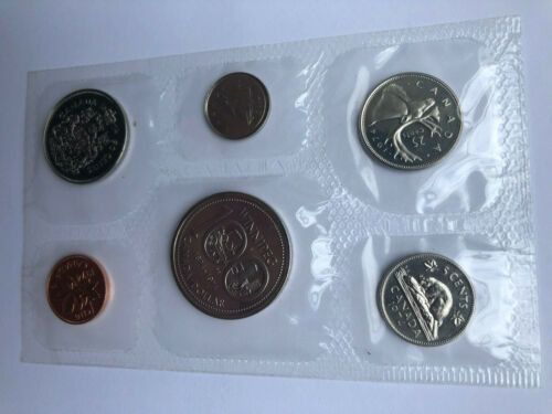 1974 Canada Royal Canadian Mint 6-coin Uncirculated Proof Like Set Cello Sealed
