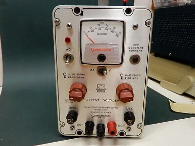Power Designs Inc Model 4005 0-40 Vdc 0-500 Ma Power Supply Tested Working