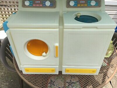Vintage Little Tikes Tykes Washer Dryer Ironing Board Child Size Play Pretend