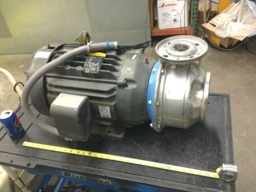 G&L Pumps Size 2x2-1/2-8 Imp Dia 7-1/2 Cat No 85H1N5C0 w/ 20 Hp 3525 rpm Motor