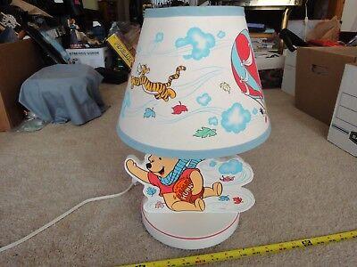 Vintage Disney, Winnie the Pooh, nursery lamp, three position night light. Nice!