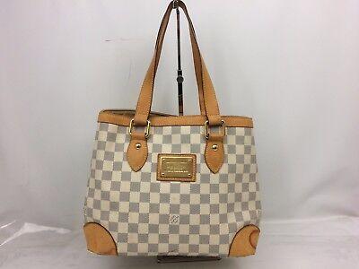 Auth Louis Vuitton Damier Azur Hampstead PM Shoulder Bag Tote Bag 7J240190m