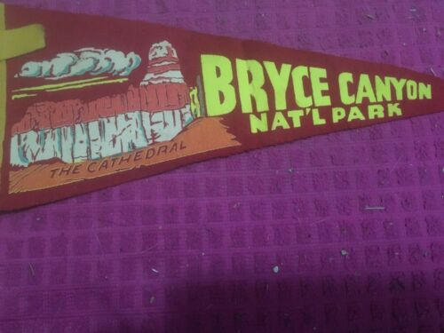 Vintage Bryce Canyon National Park Pennant THE CATHEDRAL SOUTHERN UTAH SHIP FAST
