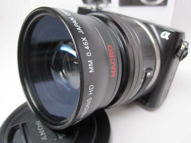 Ultra Wide Angle Macro Lens for Sony Nex 5t 3n 6000 5100 5000 16-50mm 18-55mm