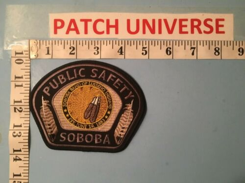 SOBOBA PUBLIC SAFETY  CALIFORNIA   POLICE SHOULDER PATCH    G009