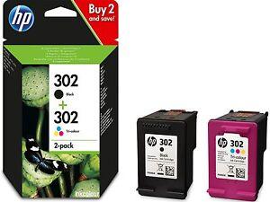 HP-302-Genuino-ENVIDIAR-4520-4522-4523-4524-Negro-Cartuchos-de-Tinta-DE-COLOR