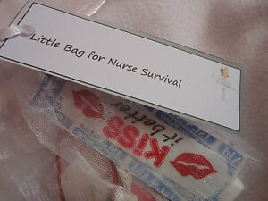 Little Bag. Nurse Survival Kit. Novelty gift for the Nurse in your life