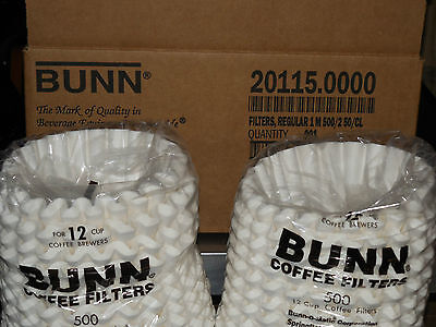 Bunn Commercial Coffee Filter.12 Cup 20115.0000 Bunn White Filter