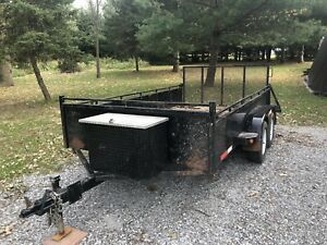 2015 -12' tandem axle landscaping/utility trailer