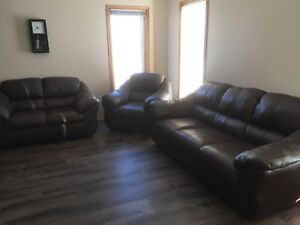 Leather Sofa Couch Loveseat and Chair