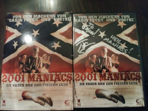RARE! 2001 Maniacs, German DVD w/Slipcover, Autographed by Director Tim Sullivan
