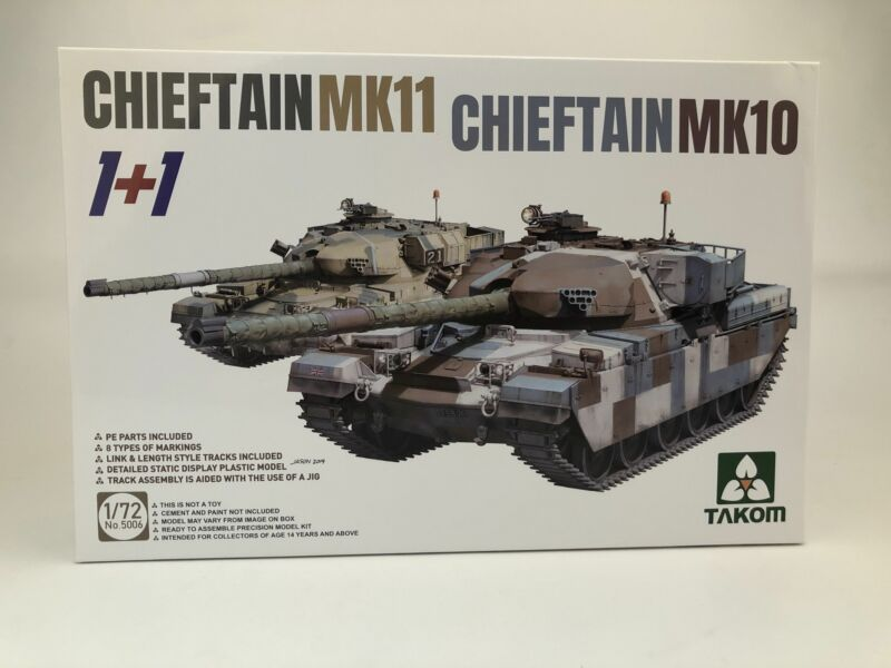 TAKOM 5006 1/72 CHIEFTAIN MK11+CHIEFTAIN MK 10 MODEL KIT