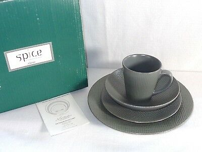 New Noritake China SPICE 4 Pc Place Setting ~ Silver Sage 8070~ in Box D Noritake Spice