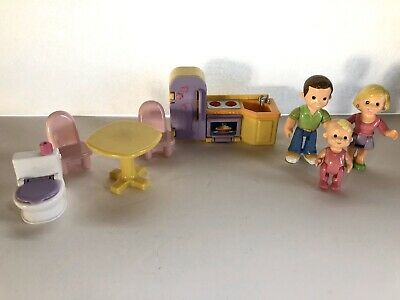 8 Pc Fisher Price My First Dollhouse Family Furntiture Accessories People Lot