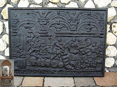 Wandplatte Ofenplatte 72,5 x 53 cm Aluminium 11,0 kg Non Est Inopia Timentibus