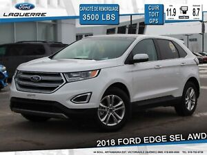 2018 Ford Edge SEL**AWD*CUIR*TOIT PANO*GPS*APPLE CARPLAY**