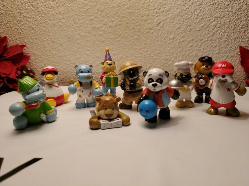 Ganz Webkinz PVC Animal Figures Lot of 11 Collectible Raccoon Turtle Dog  & More