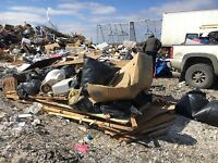 Garbage removal trash renovation dump trailer shingles junk