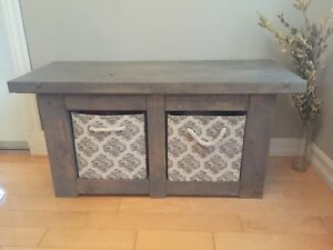 Wood Entry Bench