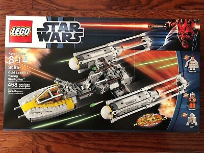 New Lego Star Wars Gold Leaders Y Wing Starfighter 9495   Sealed
