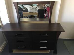 Wooden dressing table with mirror Nicholls Gungahlin Area Preview