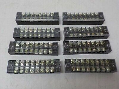 Lot Of T8 1508l 600v 15a 8 Positions Barrier Strip Terminal Block Wire Connector