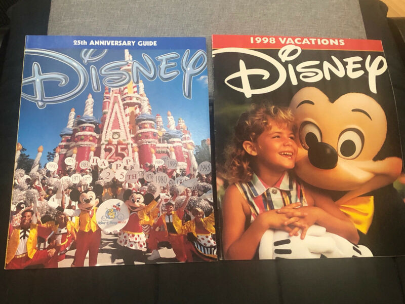 Disney World Anniversary Magazine Brochure Map Park Magic Kingdom 1998 1997