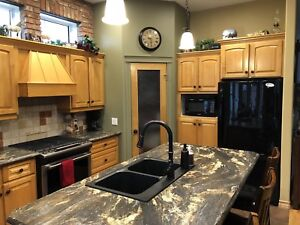 Maple kitchen, cabinets and counter top for sale