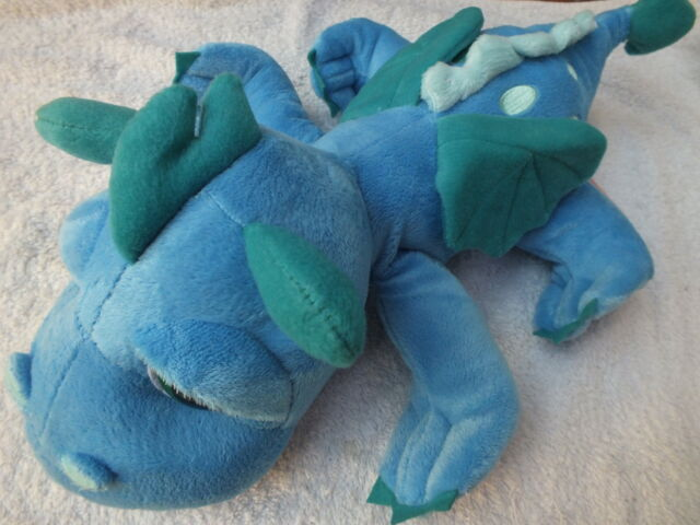 Li'l peepers Firestorm plush beanie  blue dragon soft toy by Suki Gifts 4 sizes