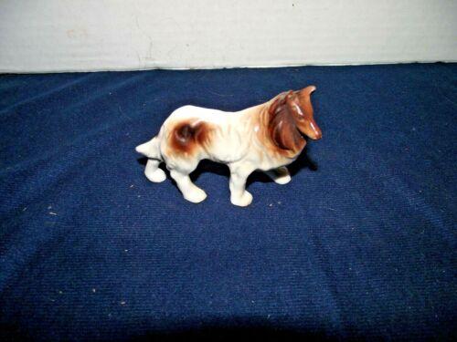 Vintage Porcelain Collie Figurine Japan