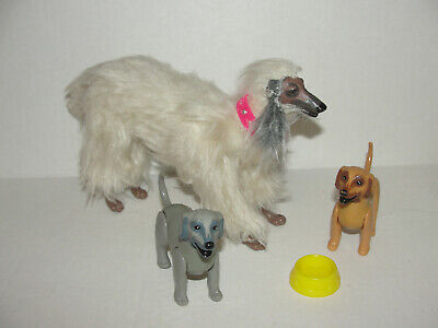 1981 Mattel Barbie's Beauty Dog and Puppies Afghan, Irish Wolfhound Red Hound