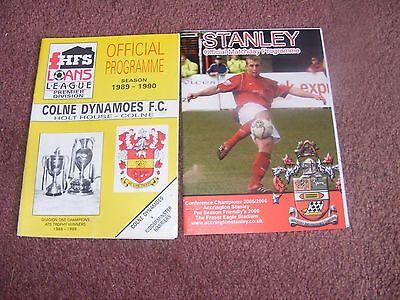 1989/0 Colne Dynamoes v Kidderminster FA trophy  Last season Colne