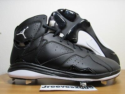 b99b251ffb9956 Jordan Retro 7 Metal Baseball Cleats Sz 13 100% Authentic VII Black 684943  010
